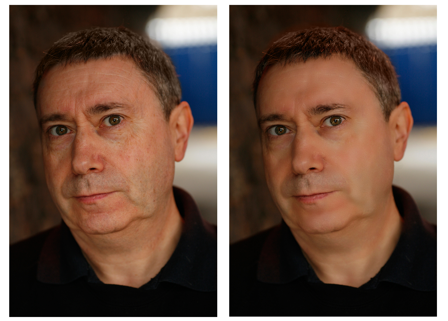 a bad actors headshot retouching