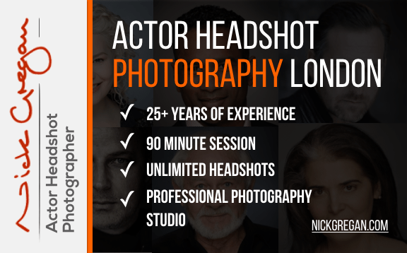 Nick Gregan Actor Headshot Photography London Featured Image