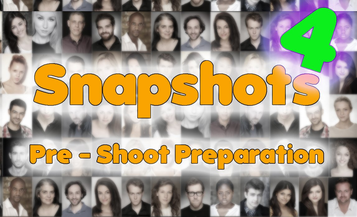 Actor's Headshot Advice – Pre Shoot Preparation